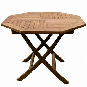 Table En Teck Jardin : table de jardin octogonale en teck 4 pers trigano store ~ Dailycaller-alerts.com Idées de Décoration