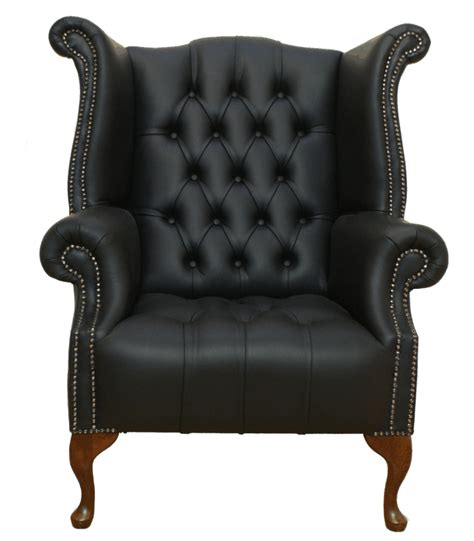 chesterfield armchair buttoned high back wing