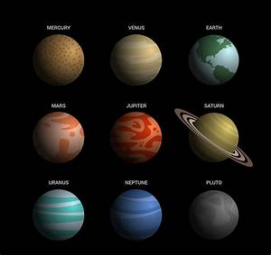 Beautifully nine planets of the solar system – vector ...