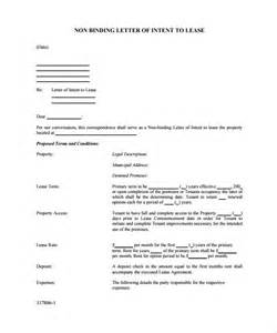 Letter Of Intent Rental Agreement Sample Lease Agreement