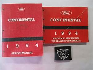 1994 Ford Lincoln Continental Service Shop Repair Manual