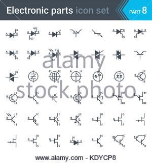 complete vector set of electric and electronic circuit diagram stock vector illustration