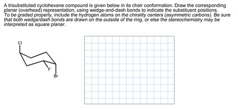 drawing chair flip conformation a trisubstituted cyclohexane compound is given bel