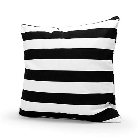 Black And White Strip Throw Pillow Case 168 Shipped On