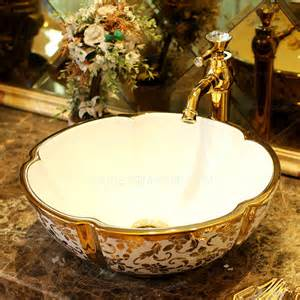 remove kitchen sink faucet gold vessel sink luxury ceramic sting floral