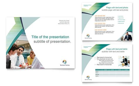 business training powerpoint  template design