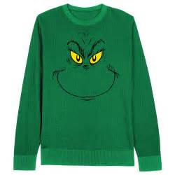 grinch face dr seuss christmas sweater