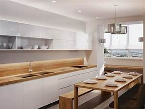 Kueche essbereich weisse fronten holz arbeitsplatte esstischjpg 640x480 home interior for Arbeitsplatte holz küche