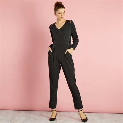combinaison pantalon femme combinaison pantalon avec dentelle aux 233 paules femme