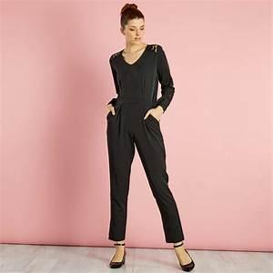 Combinaison Pantalon Femme Habillée : combinaison pantalon avec dentelle aux paules femme ~ Carolinahurricanesstore.com Idées de Décoration