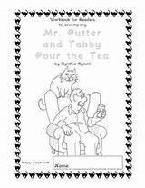Putter Mr Tabby Tea Pour Coloring Readers Workbooks Teas Illustrations Children Reading Divyajanani Activities Workbook Chapter sketch template