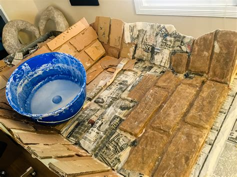 diy paper mache fireplace pizza   slice