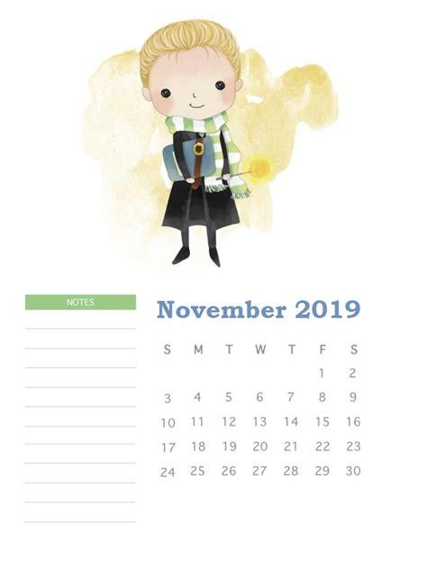 harry potter  monthly calendar calendar