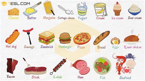 food names  food vocabulary  english