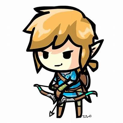 Breath Zelda Chibi Link Wild Legend Gifs