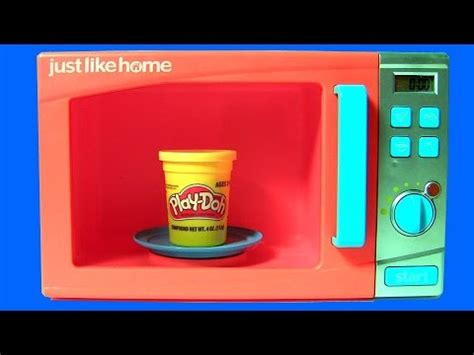 Just Like Home Microwave Oven Toy Playdoh Surprises