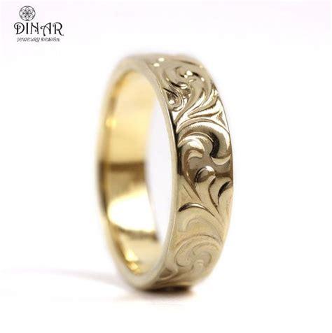 14k yellow gold band art deco wedding ring band women s