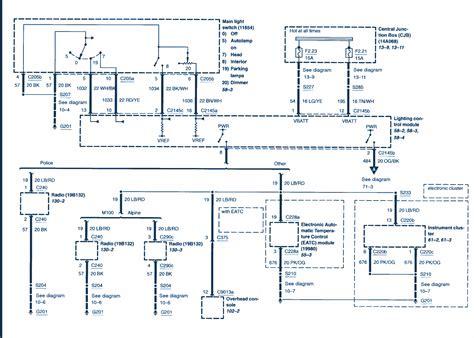 2005 Crown Victorium Wiring Diagram by Light Circuit Diagram 2003 Ford Crown Vic Wiring Diagram
