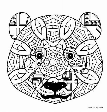 Panda Coloring Pages Adults Printable