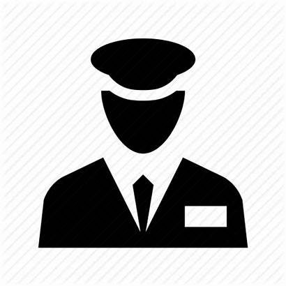 Security Guard Icon Officer Gatekeeper Agent Incharge