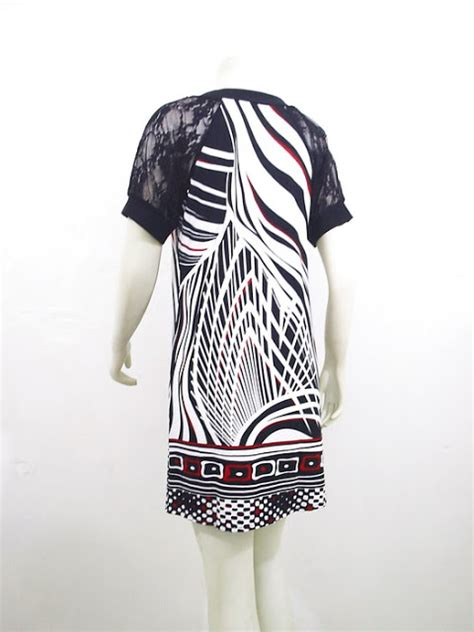 pretty abstrak   fashion dress spandek korea lc