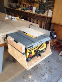Dewalt table saw mounted to Paulk Workbench - Woodworking