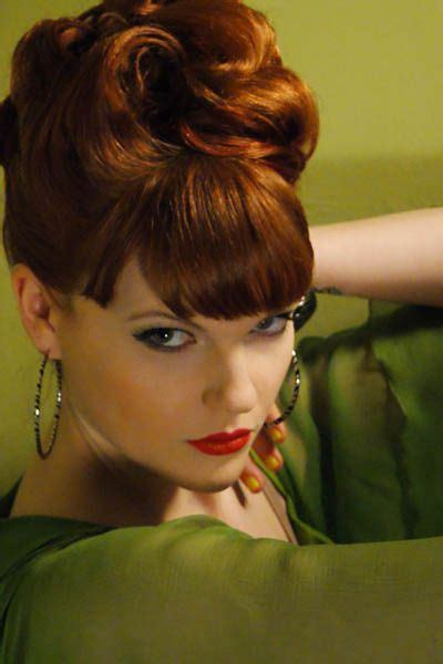 60s Pin Up Hairstyles by Updo 60s Bangs And I Am On