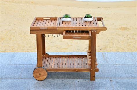 Safavieh Home Furniture by Pat7010a Bar Carts Outdoor Bar Outdoor Home Furnishings