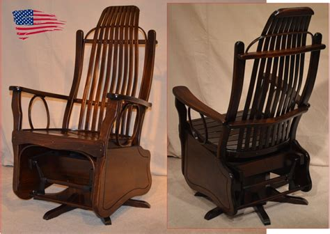 amish maple swivel glider jasens furniture