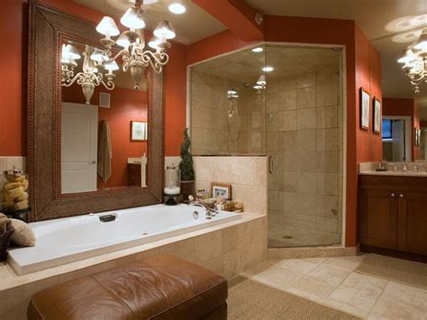 Bloombety  Red Paint Color For A Small Bathroom Design