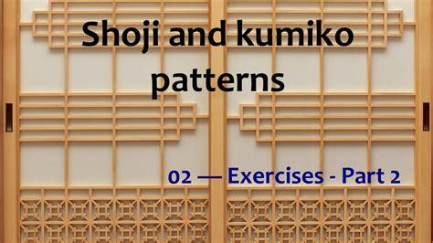 shoji  kumiko patterns  exercises pt  doovi