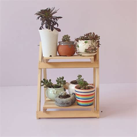 solid wood plant stand flower pot racks decor  tier shelf
