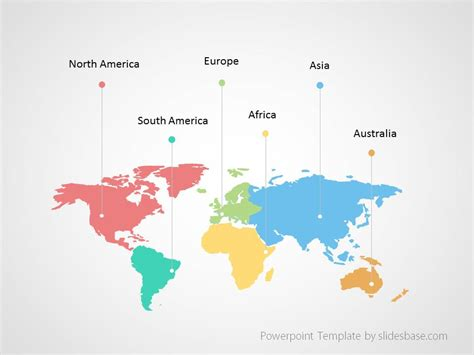 world map infographic powerpoint template slidesbase