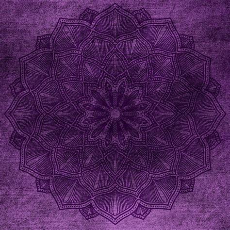 photo lilac background grunge purple mandala vintage