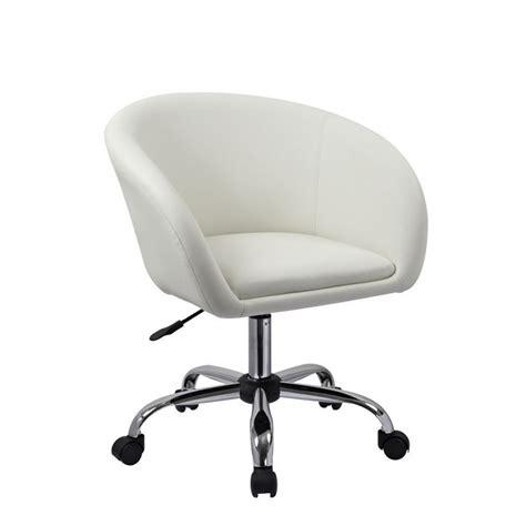 fauteuil à tabouret chaise de bureau blanc