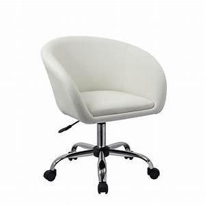 Fauteuil Roulette Tabouret Chaise De Bureau Blanc