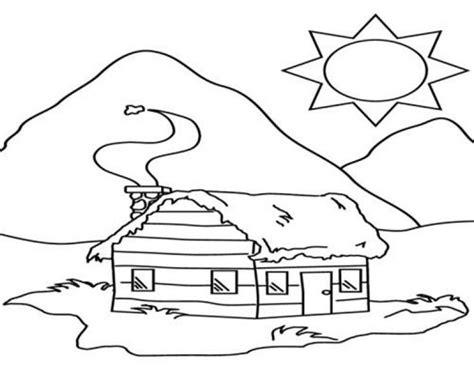 gambar rumah untuk mewarnai anak paud buku mewarnai