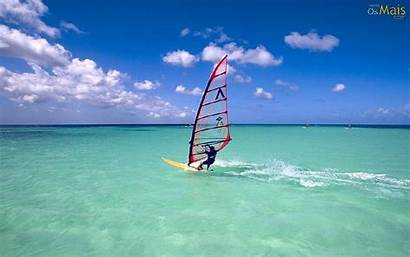 Windsurf Parede Papel Wallpapers Windsurfing Surfing Wind