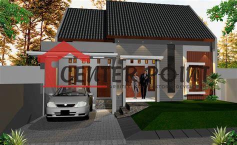 jasa gambar rumah minimalis satu lantai bali atap pelana