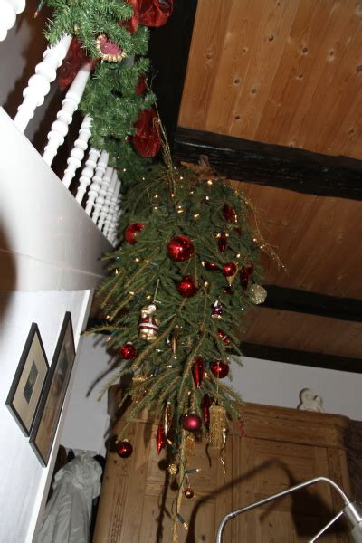 vom weihnachtsbaum der verkehrt rum haengt dies das