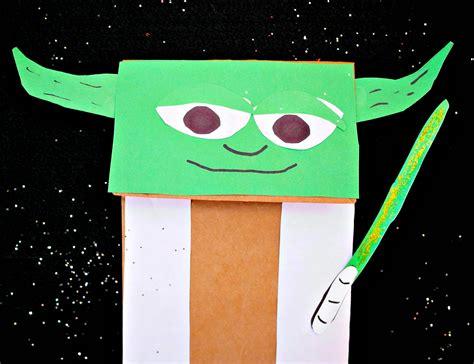 yoda puppet easy star wars craft