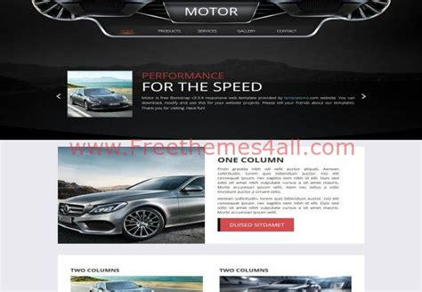 Black Responsive Joomla Template by Free Responsive Black Automotive Css3 Template