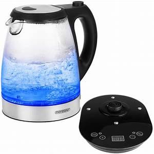 Wasserkocher Mit Led : wasserkocher mit temperaturwahl 2200w 1 7l glas led ~ Buech-reservation.com Haus und Dekorationen