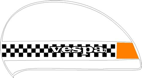 lml vespa px side panels and shaped mudguard checks two tone scooter stickers 02 ebay
