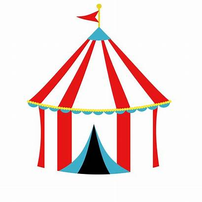 Tent Circus Clipart Carnival Tents Drawing Clip