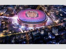 Barça les premières images du nouveau Camp Nou