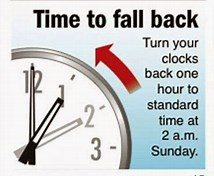 Image result for clock one hour back