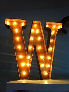 vintage marquee lights letter light letter w With vintage lighting marquee letters
