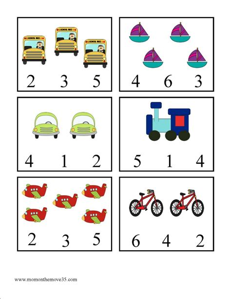 math printables on the move 601 | Clothespin Transportation Number Match 791x1024