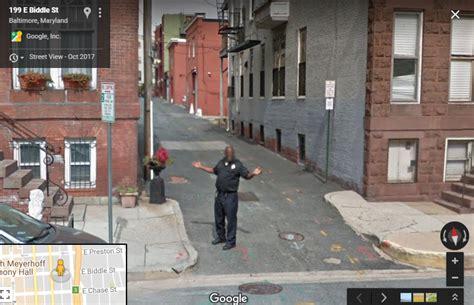 baltimores  blog showcases   pedestrians posing  google street